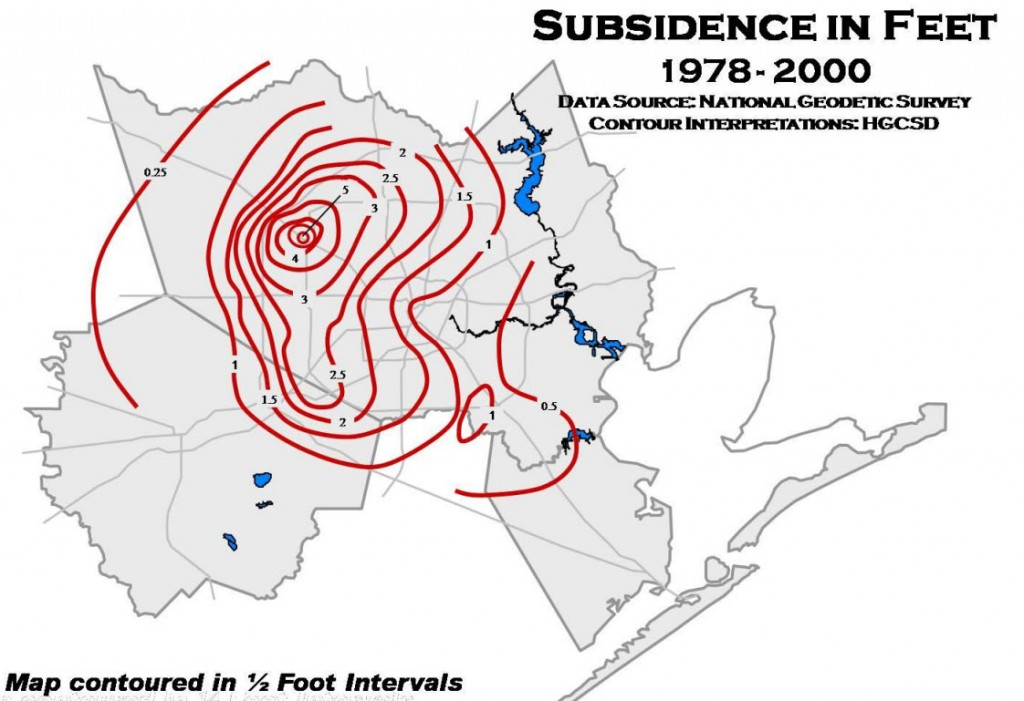Harris Galveston Subsidence 1978-2000