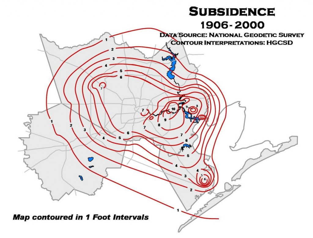 Harris Galveston Subsidence 1906-2000